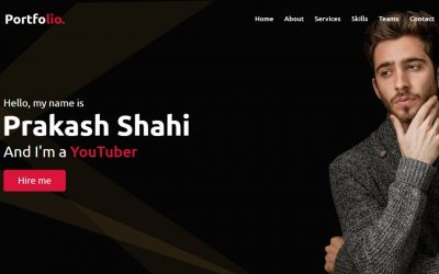Do It Yourself – Tutorials – Responsive Personal Portfolio Website Design using HTML CSS & JavaScript