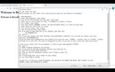 Do It Yourself – Tutorials – TUTORIAL How to make our own website using Notepad++ 2020