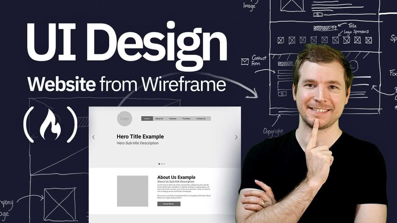 UI Design Tutorial - Website From Wireframe