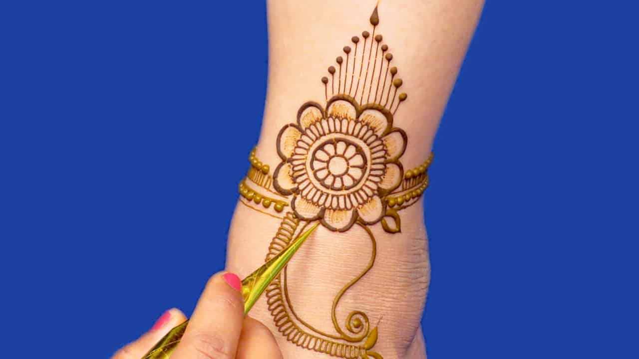 Wedding Special Arabic Dulhan Mehndi Design - Leg Mehadi Design - New Bridal Mehndi #886