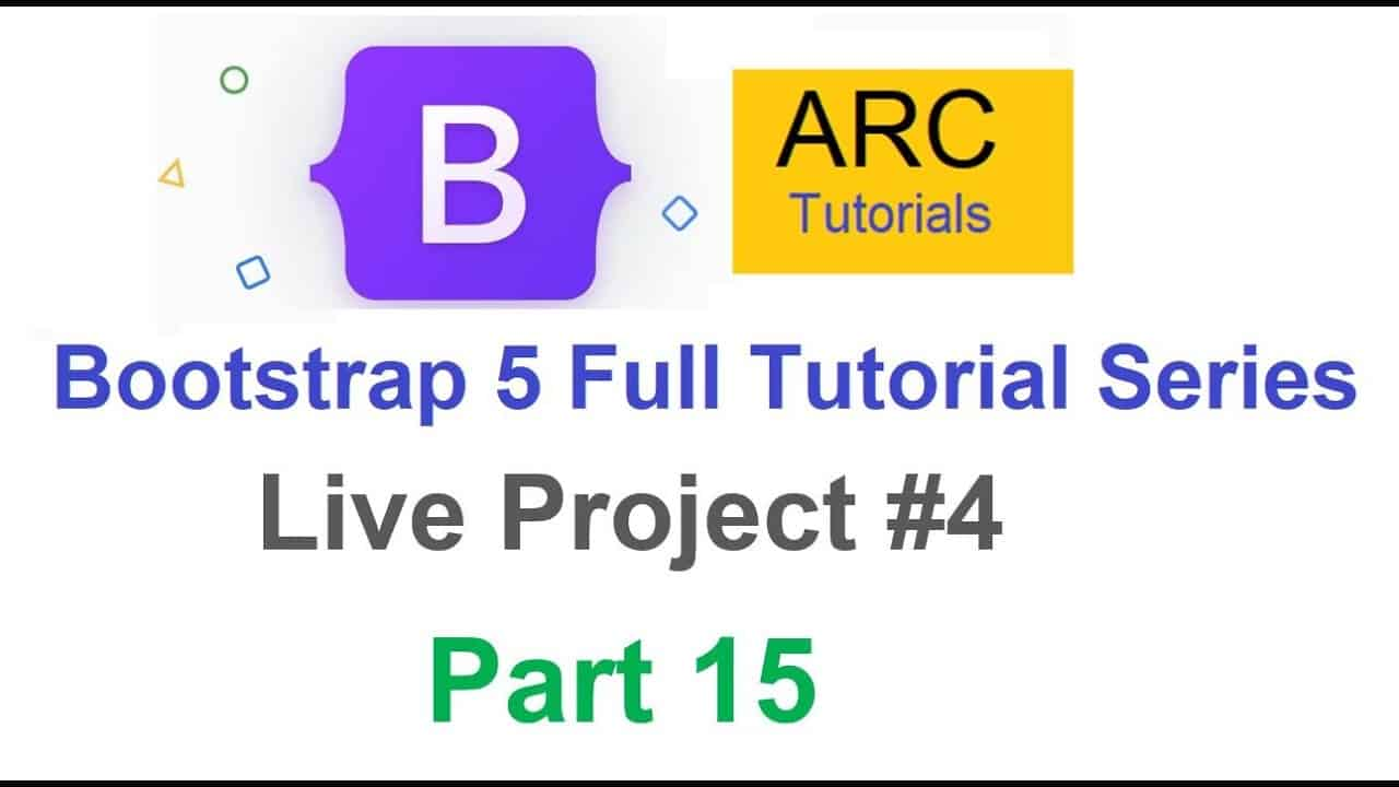 Bootstrap 5 Tutorial For Beginners #15 - Live Project #4 | Design your own website using Bootstrap