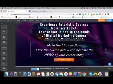 Super Fast Web Design using Weebly Lecture 2   Weebly Web Design Tutorial Part 1