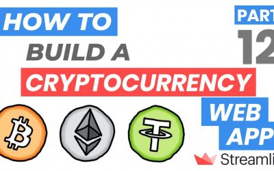 Do It Yourself – Tutorials – How to Build a Cryptocurrency Price Web App (Streamlit Tutorial Part 12)