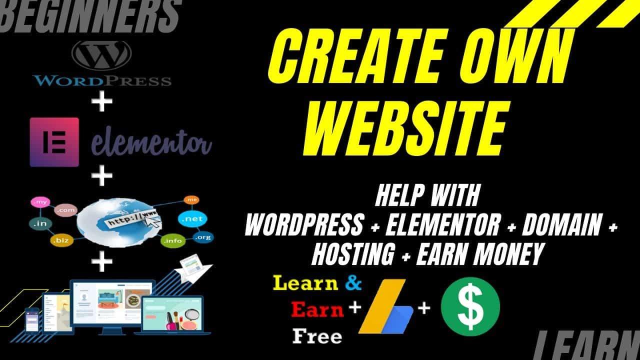How To Make a Own WordPress Website wth Elimentor free | Learn & Earn Wordpress | Elementor Tutorial
