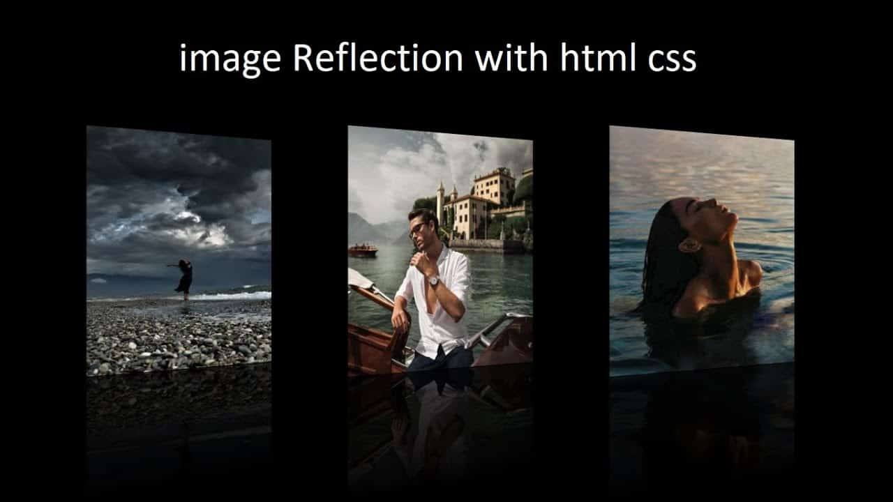 Image Reflection with html and css || image reflection with hover effect.