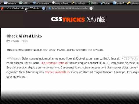 CSS-Tricks: Kennzeichnung von besuchtenLinks