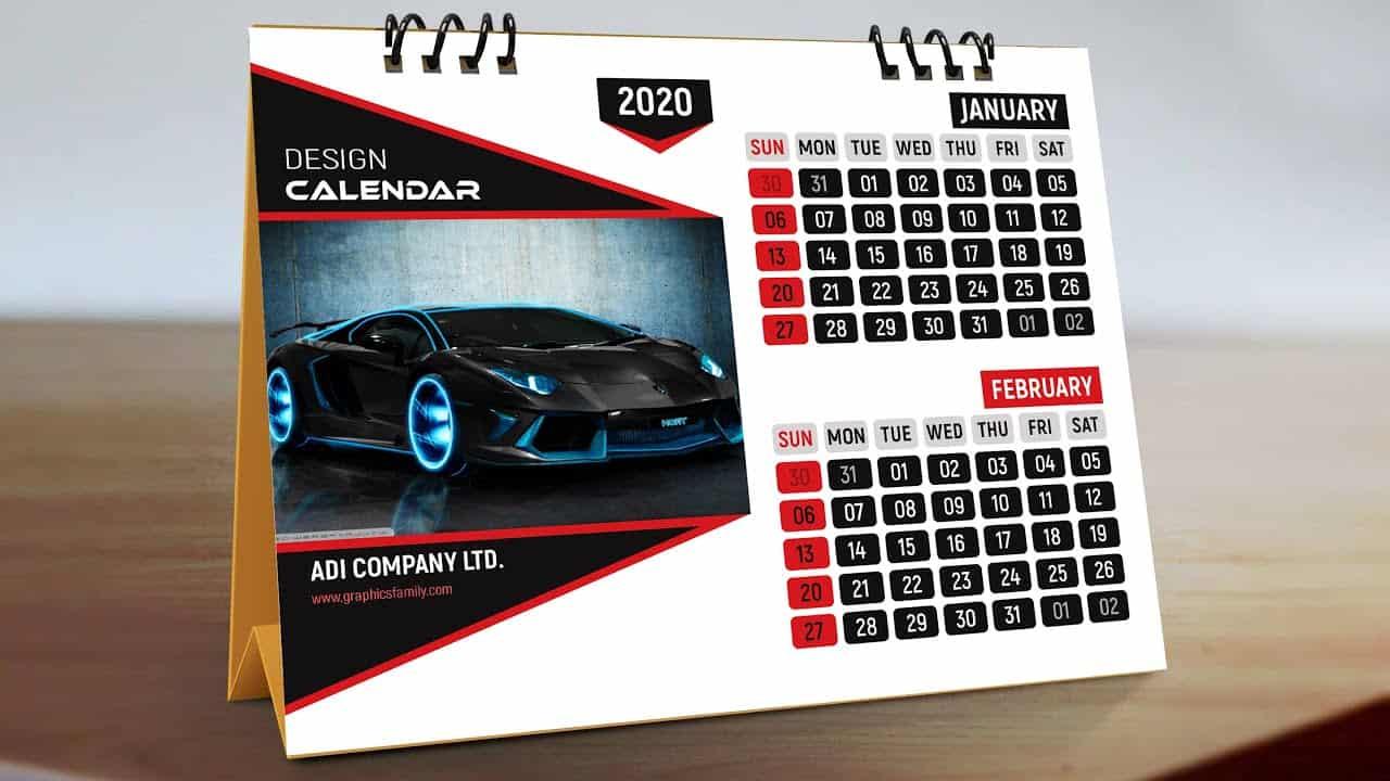 Adobe Photoshop Tutorial - Professional Calendar Design Template