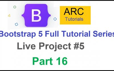 Do It Yourself – Tutorials – Bootstrap 5 Tutorial For Beginners #16 – Live Project #5   Design your own website using Bootstrap