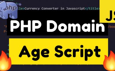 Do It Yourself – Tutorials – Build a Domain Age Checker SEO Tool in HTML5 Javascript and PHP 7 Full Web App Tutorial 2020
