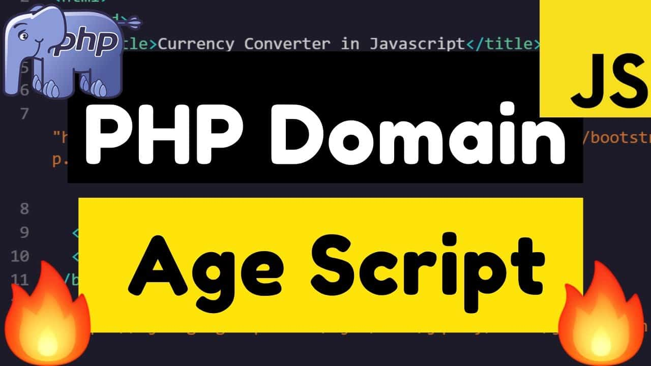 Build a Domain Age Checker SEO Tool in HTML5 Javascript and PHP 7 Full Web App Tutorial 2020