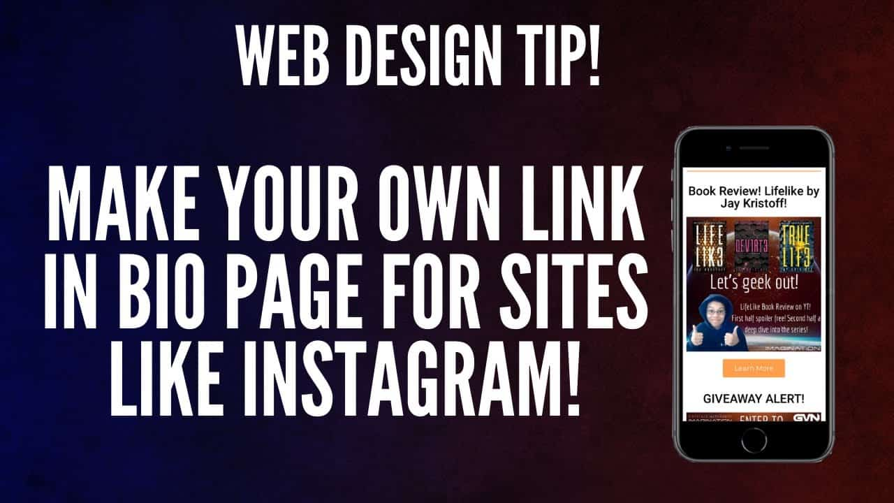 Building Your Own Linktree Page for Instagram | Web Design Tutorial For Authors & Content Creators