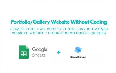 Do It Yourself – Tutorials – Create a Gallery/Portfolio Website in 10 minutes   No-Code Tutorial   SpreadSimple.com