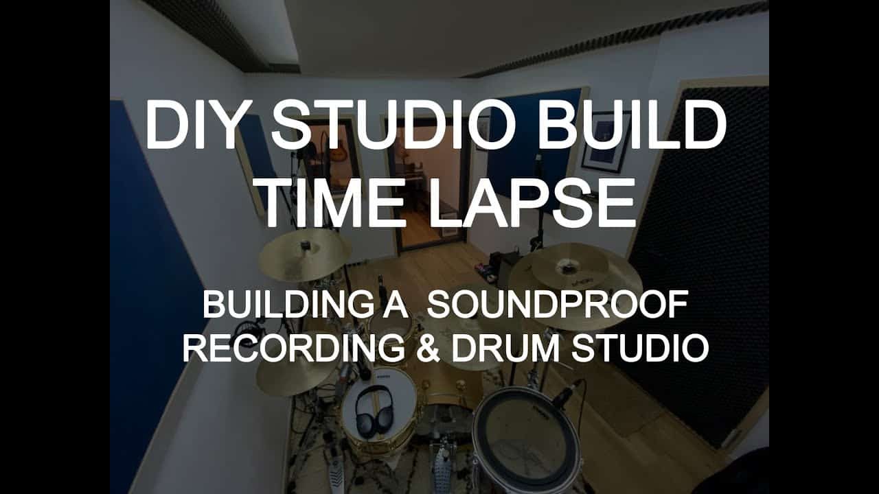 DIY Soundproof Studio Time Lapse - How to build your own room-within-a-room recording studio