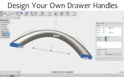 Do It Yourself – Tutorials – Design your own Drawer Handles in Fusion 360 – Loft Tool