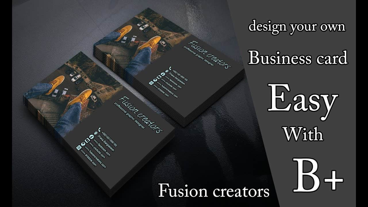 Design your own business card in Photoshop cc 2020 | How to design and create a   business card Easy