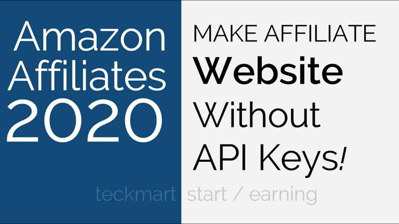How To Make Amazon Affiliate Website Without Api Key Hindi
