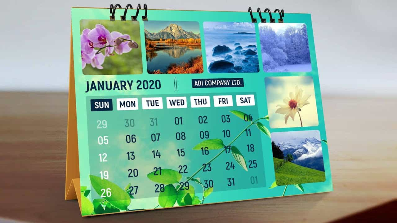 How To Make Calendar Design in Photoshop