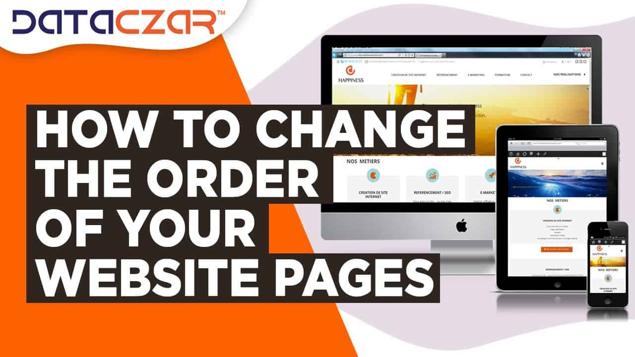 How to Change the Order of Your Website Pages