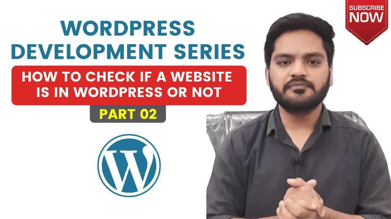 How to check if a Website is in WordPress or Not | WordPress Tutorial in Hindi Part 02 by M.O.M