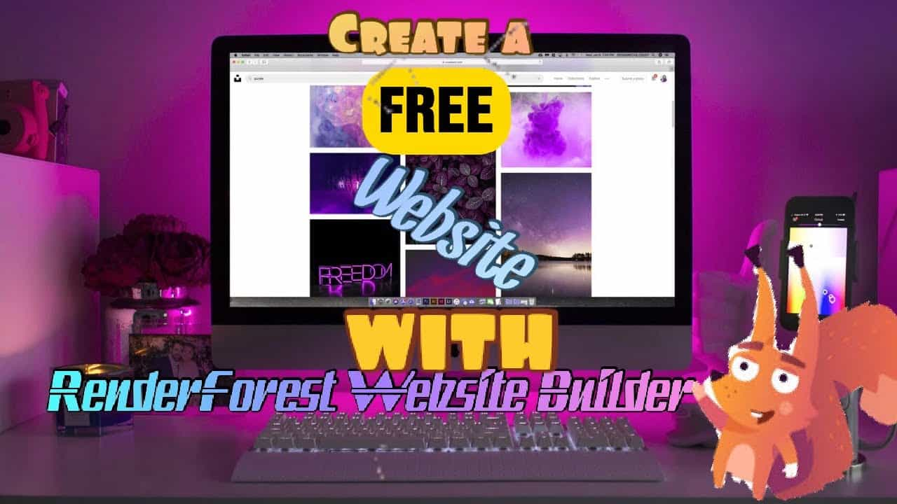 How to create free renderforest website with renderforest website builder full tutorial 2020