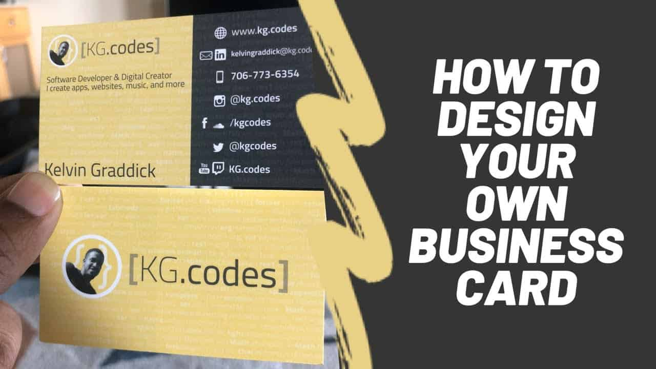 How to design your own business card | clean and modern | using GIMP