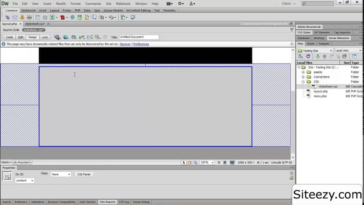 How to use DIV Tags and CSS to Create a  Responsive Webpage Layout - Dreamweaver Tutorial