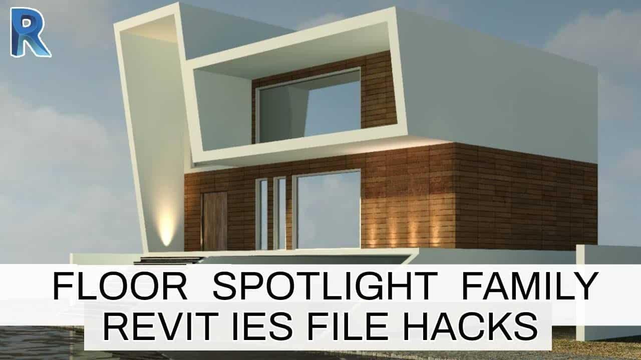 Revit  Floor Spotlight Family Tutorial | Use Photometric Web Files in Revit | IES Files Hacks |