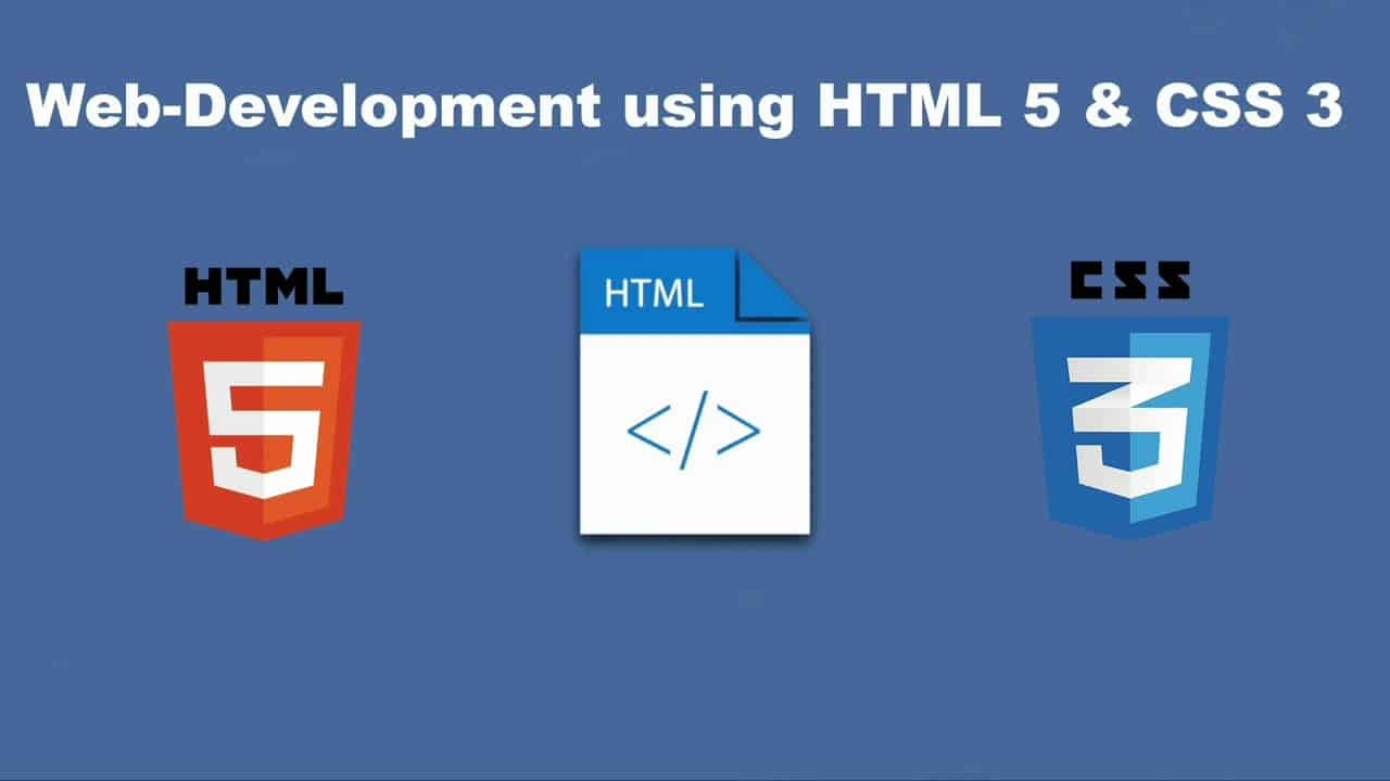 Web-Development using HTML 5 & CSS3