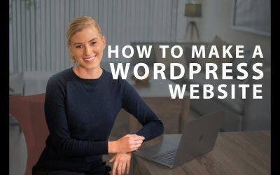 Do It Yourself – Tutorials – WordPress Tutorial: How to Make a WordPress Website