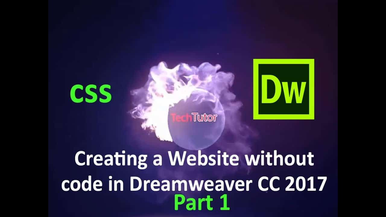 creating a website without code in Dreamweaver CC 2017 | Part 1
