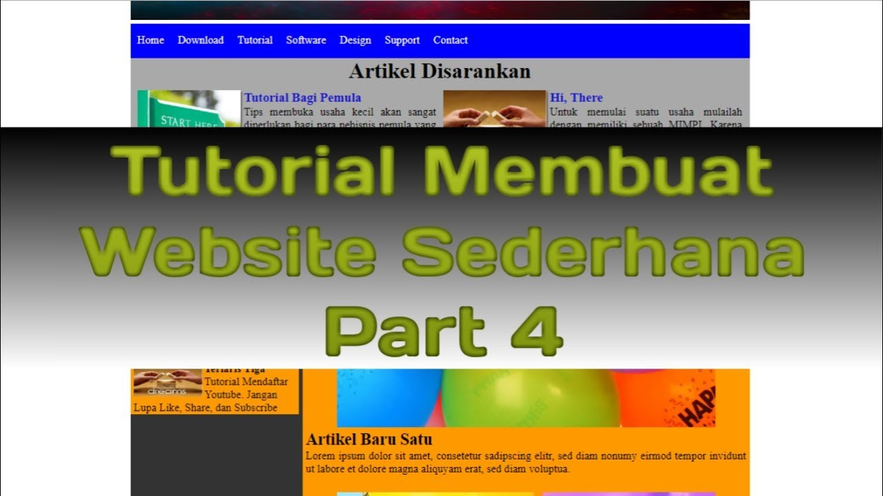 Tutorial Membuat Website Sederhana - HTML CSS (Part 4)