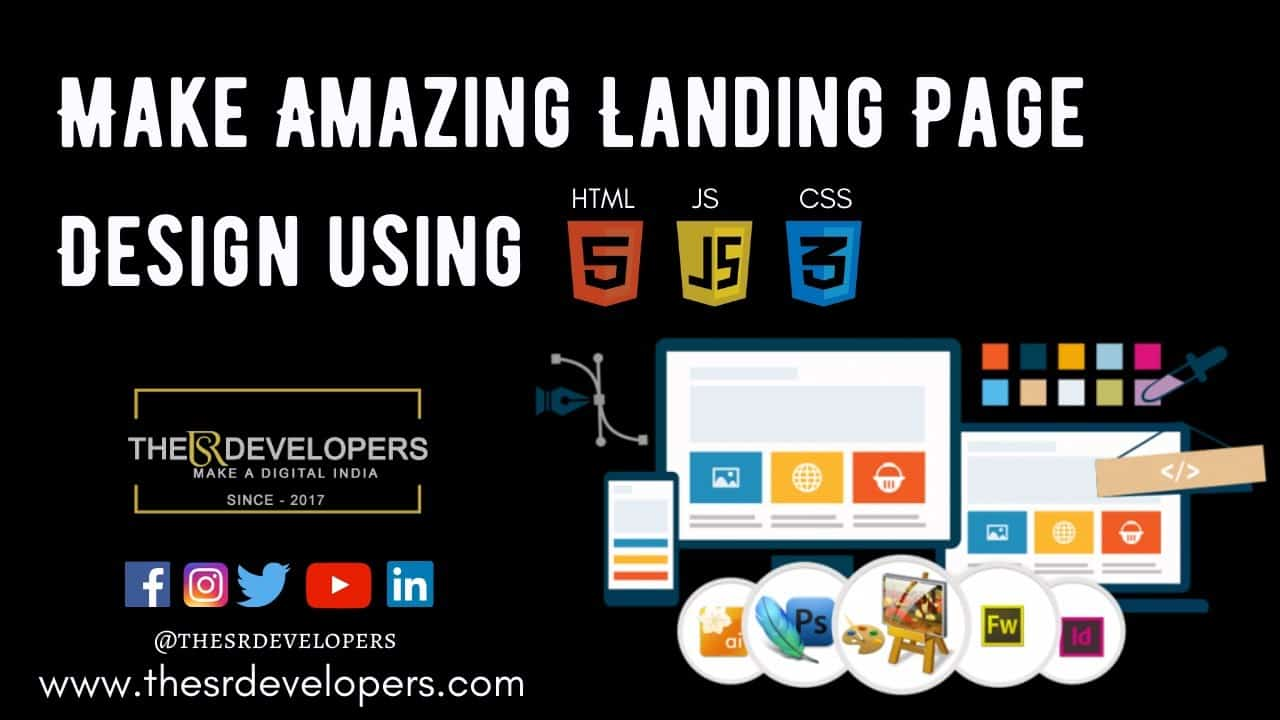 Make a Landing Page Design with HTML CSS JS #thesrdevelopers #webdesign #landingpage #design #html