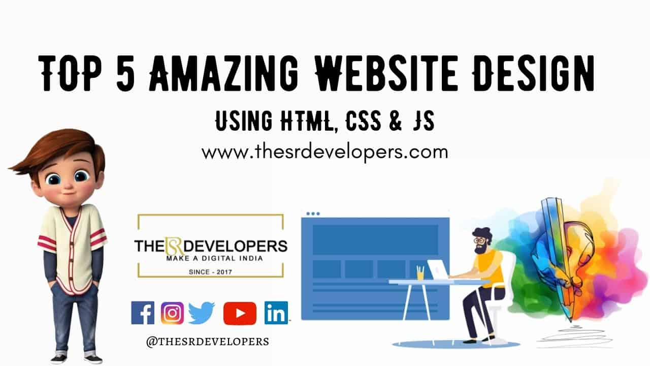 TOP 5 Increadible Website Design #thesrdevelopers #webdesign #webdevelopement #html #css #website