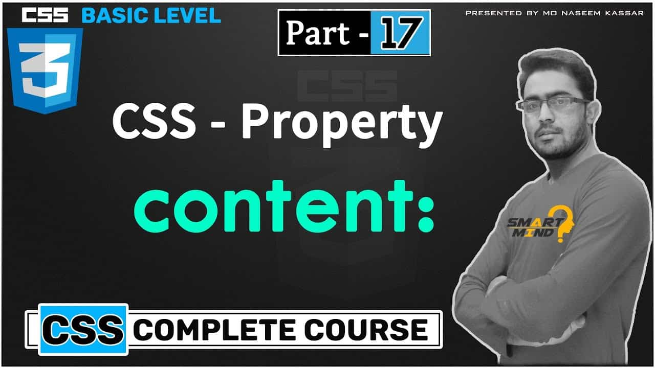 Css content propety for beginners in hindi must watch css content property  - #17