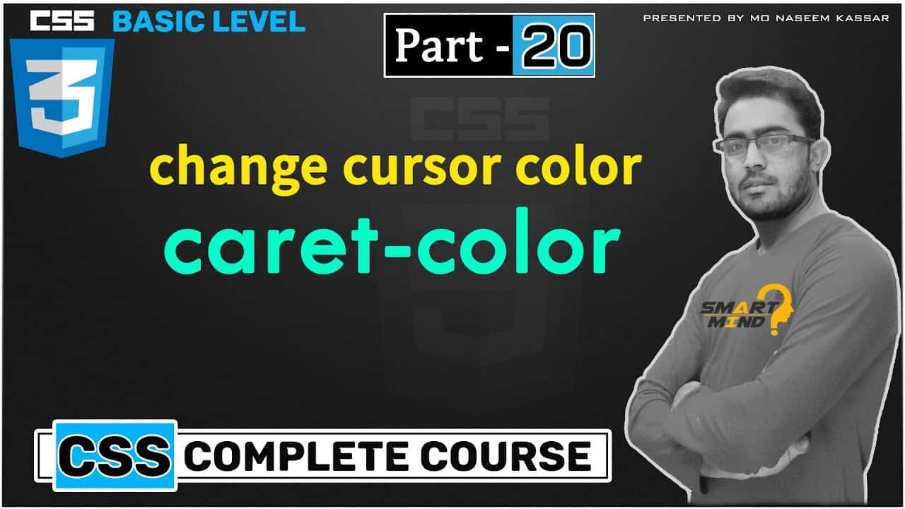caret color in css for beginners in hindi cursor color change with css  - #20