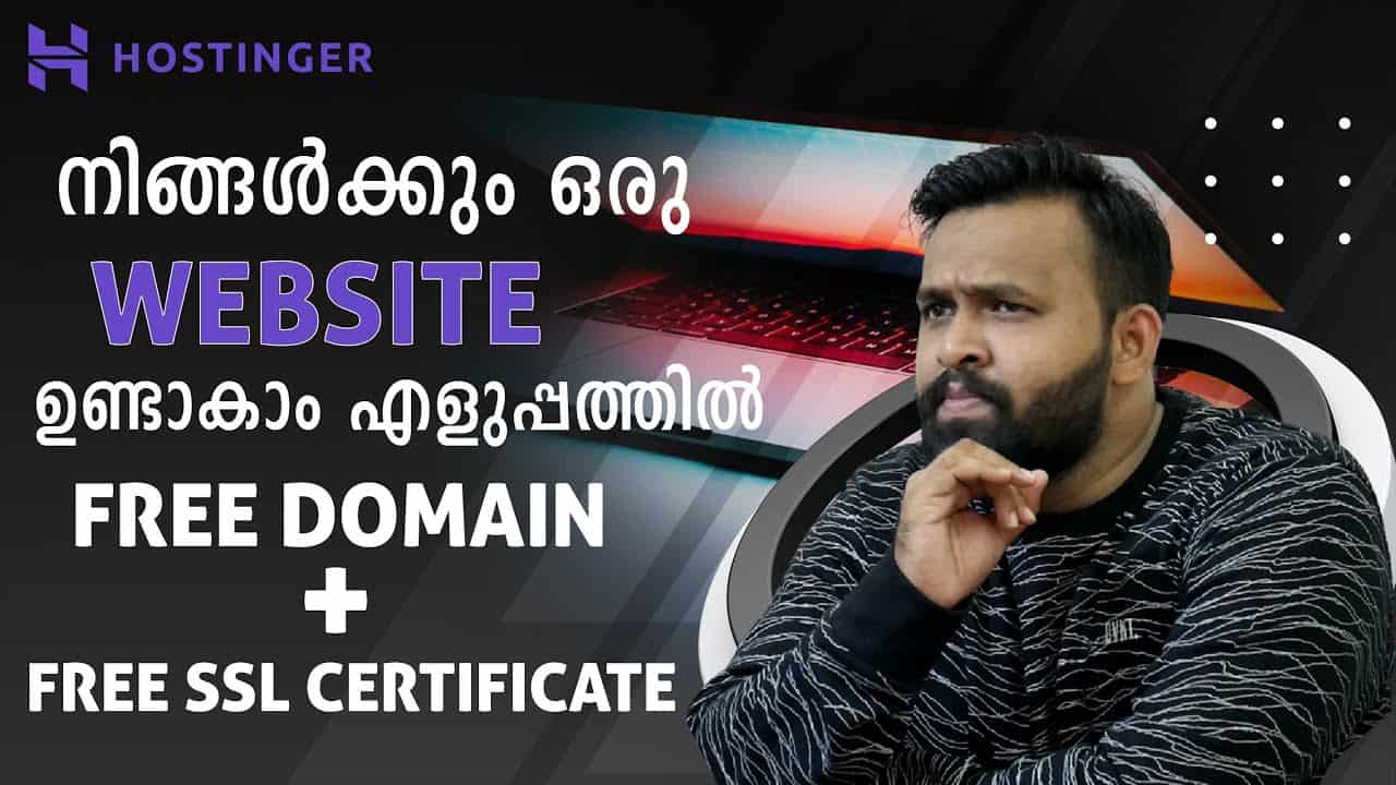 How to Create a Website in Malayalam | Free Domain & SSL Certificate From Hostinger | Full Tutorial