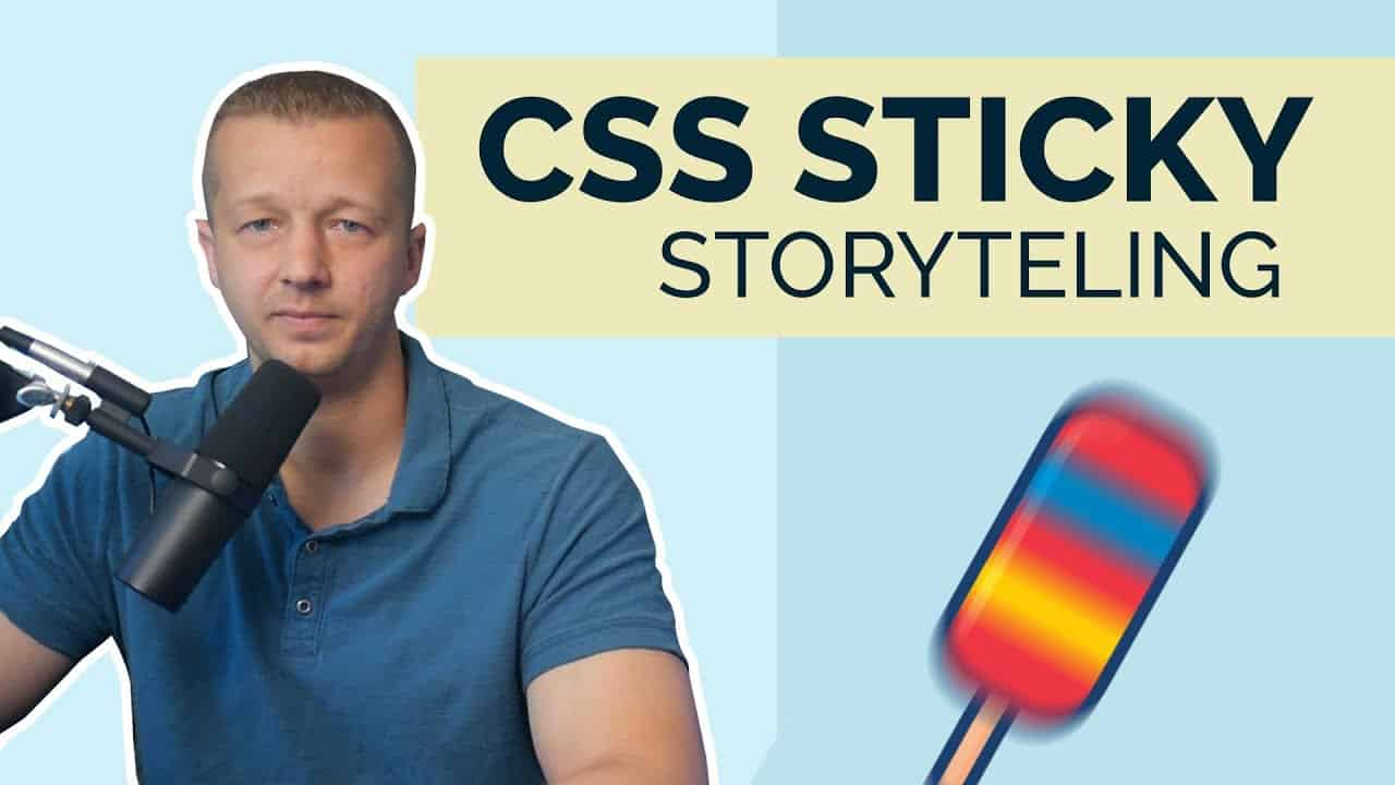Pure CSS Sticky Storytelling with 1 Property??
