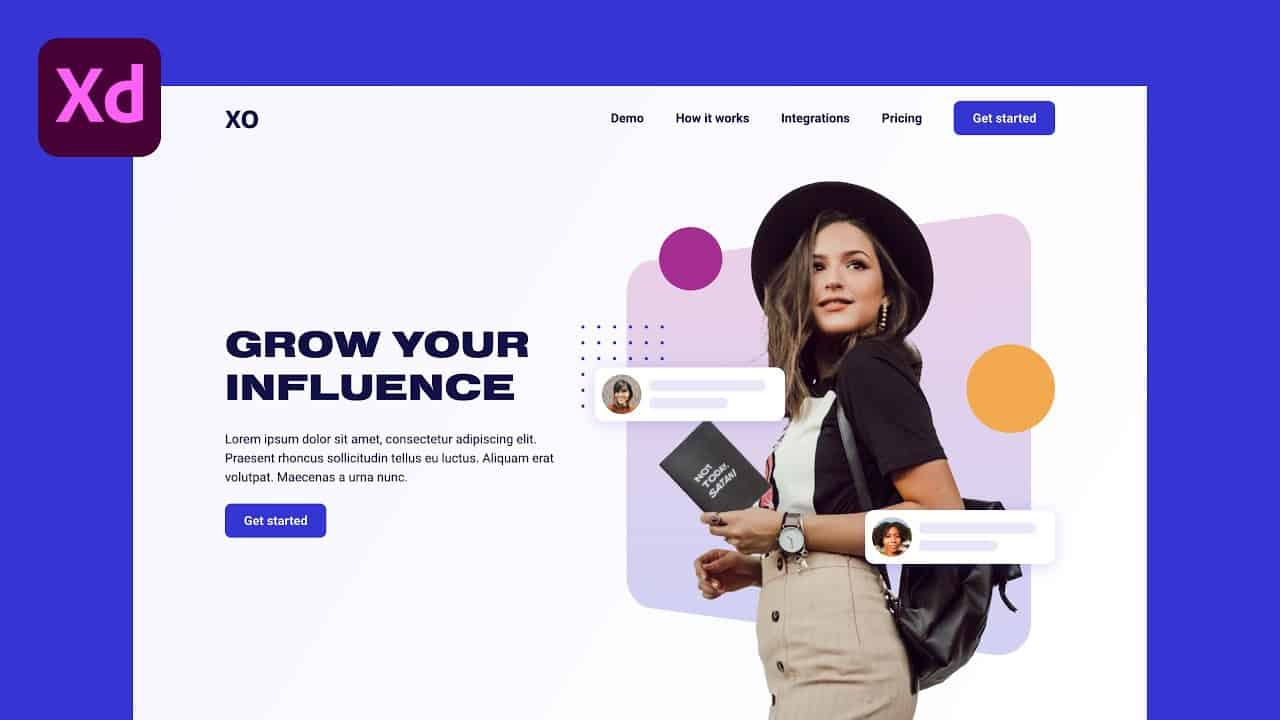 Design Trendy Website Hero in Adobe XD (Light & Dark Theme) | XO PIXEL
