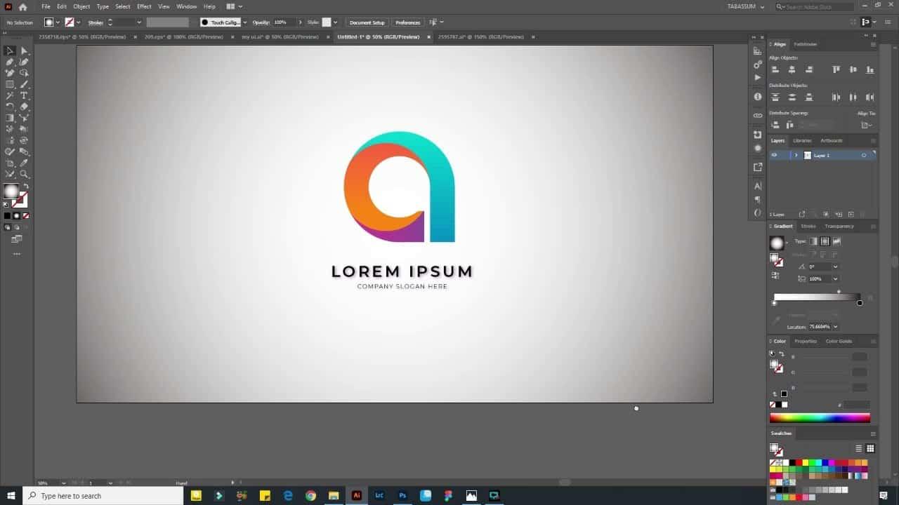 Landing PageI Illustrator tutorial|Ui Ux design|Speed Art|Adobe Xd design |Tabassum Tutorials