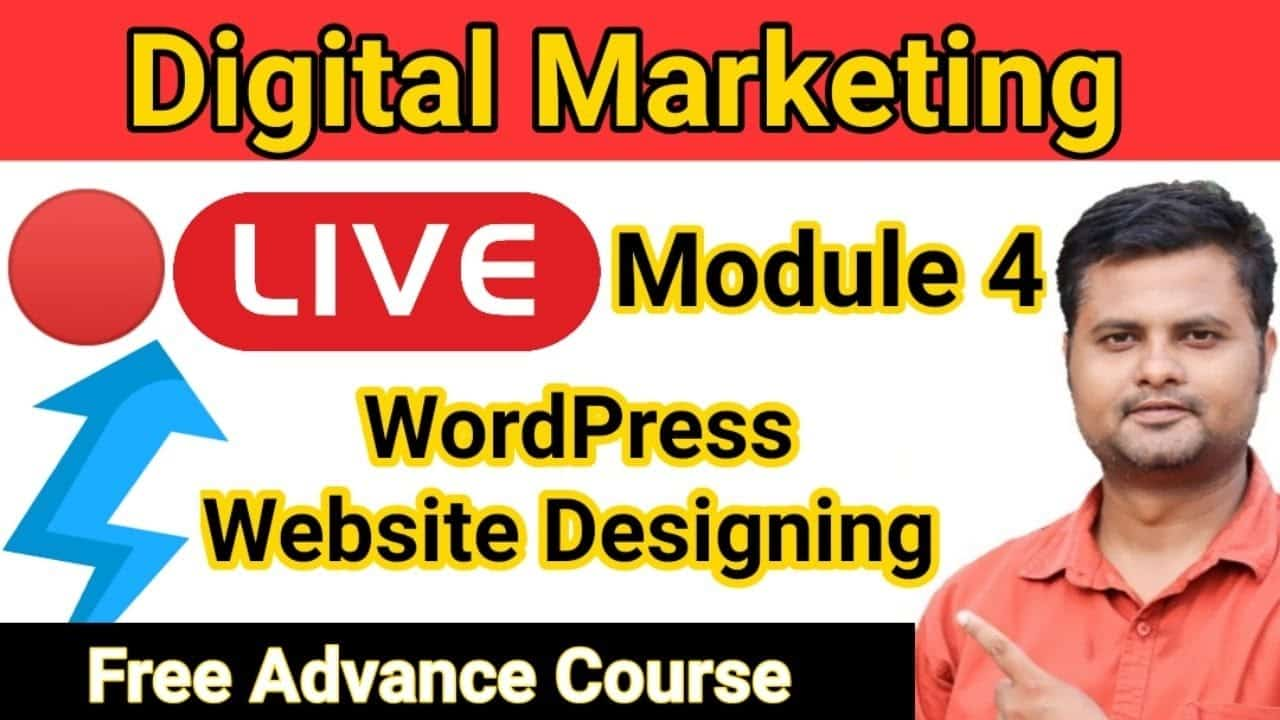 Digital Marketing Tutorial for Beginners in Hindi | Live Free SEO Course Wordpress Website Designing