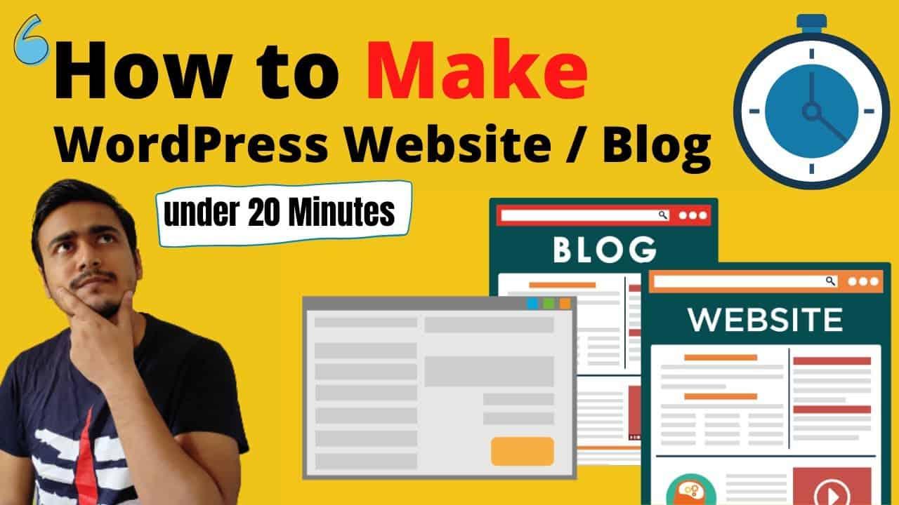 How to Make a Wordpress Website or Blog under 20 minutes to make money online | Website Kaise Banaye