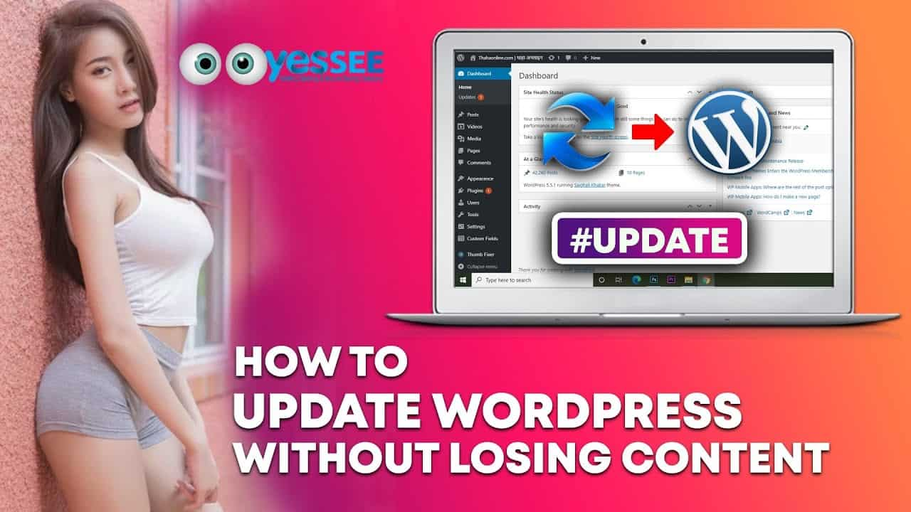 How to update WordPress without Losing Content for Beginners - Easy Method 2020