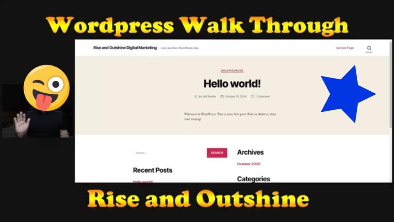 Wordpress Basics for Beginners - 5 Minute Tutorial
