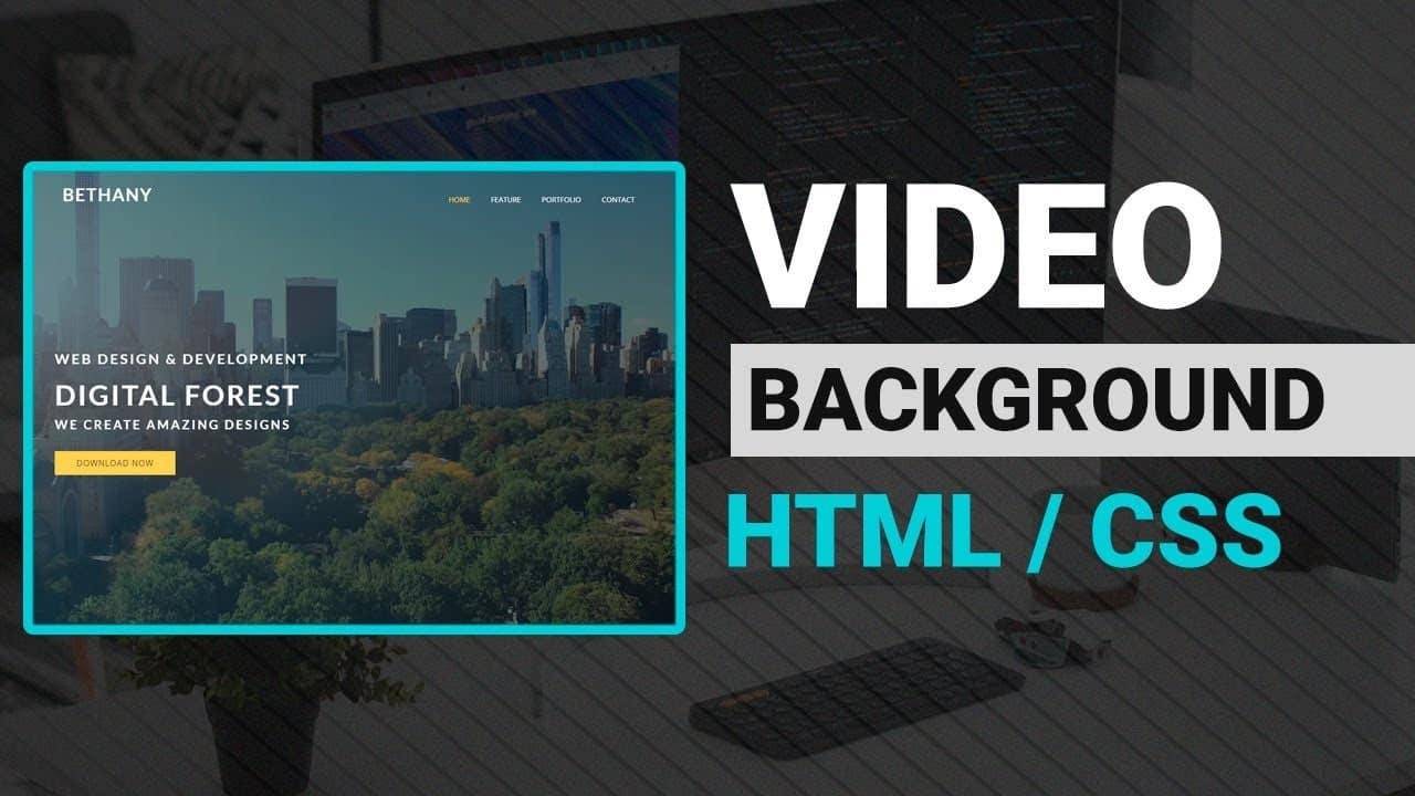 Video Background to Website HTML & CSS Tutorial