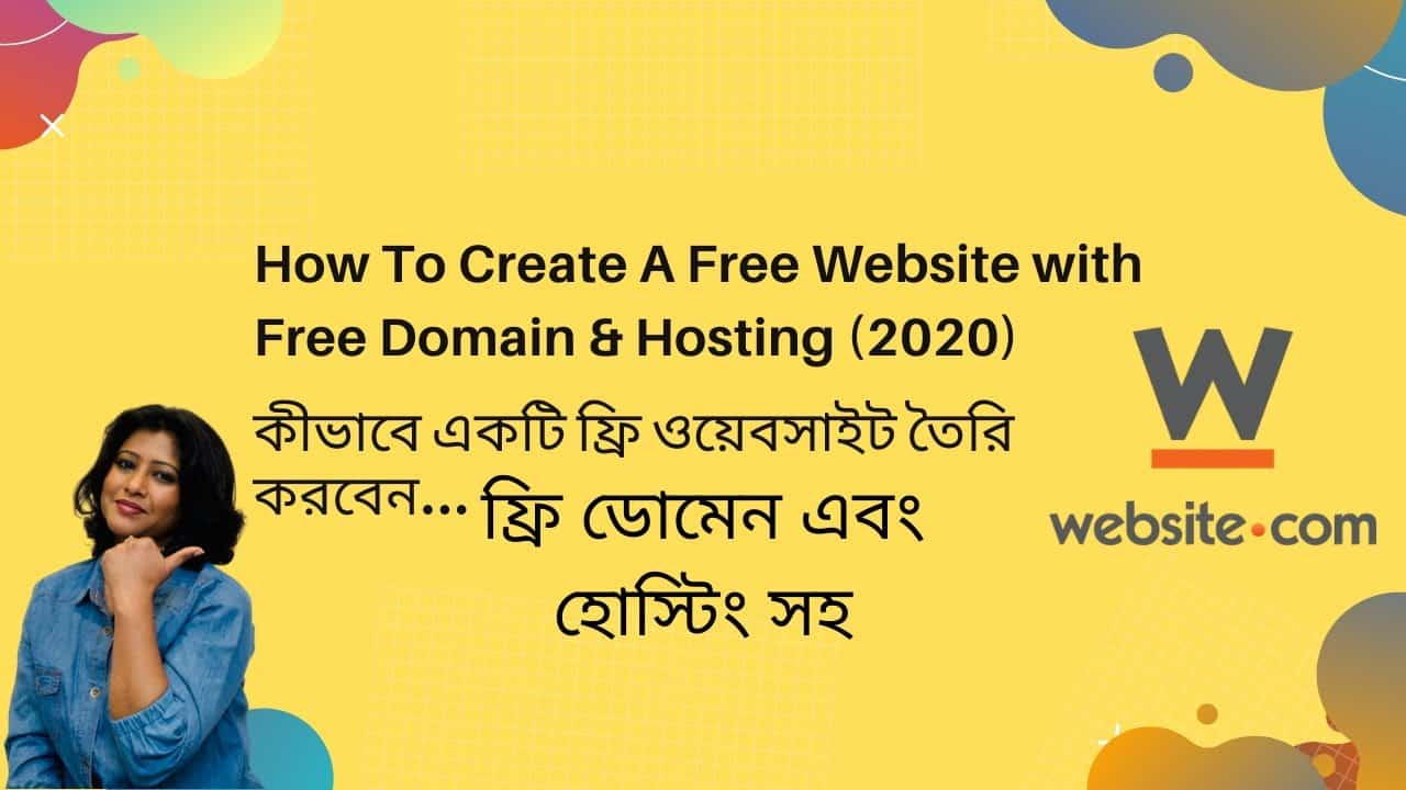 How To Create A Free Website with Free Domain & Hosting | Bangla Tutorial.