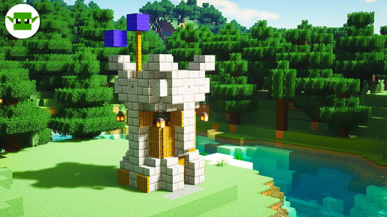 Minecraft | How to Build a Small Fortified Tower