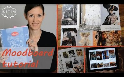 Do It Yourself – Tutorials – How to create a fashion mood board | Example from my designer portfolio | Justine Leconte