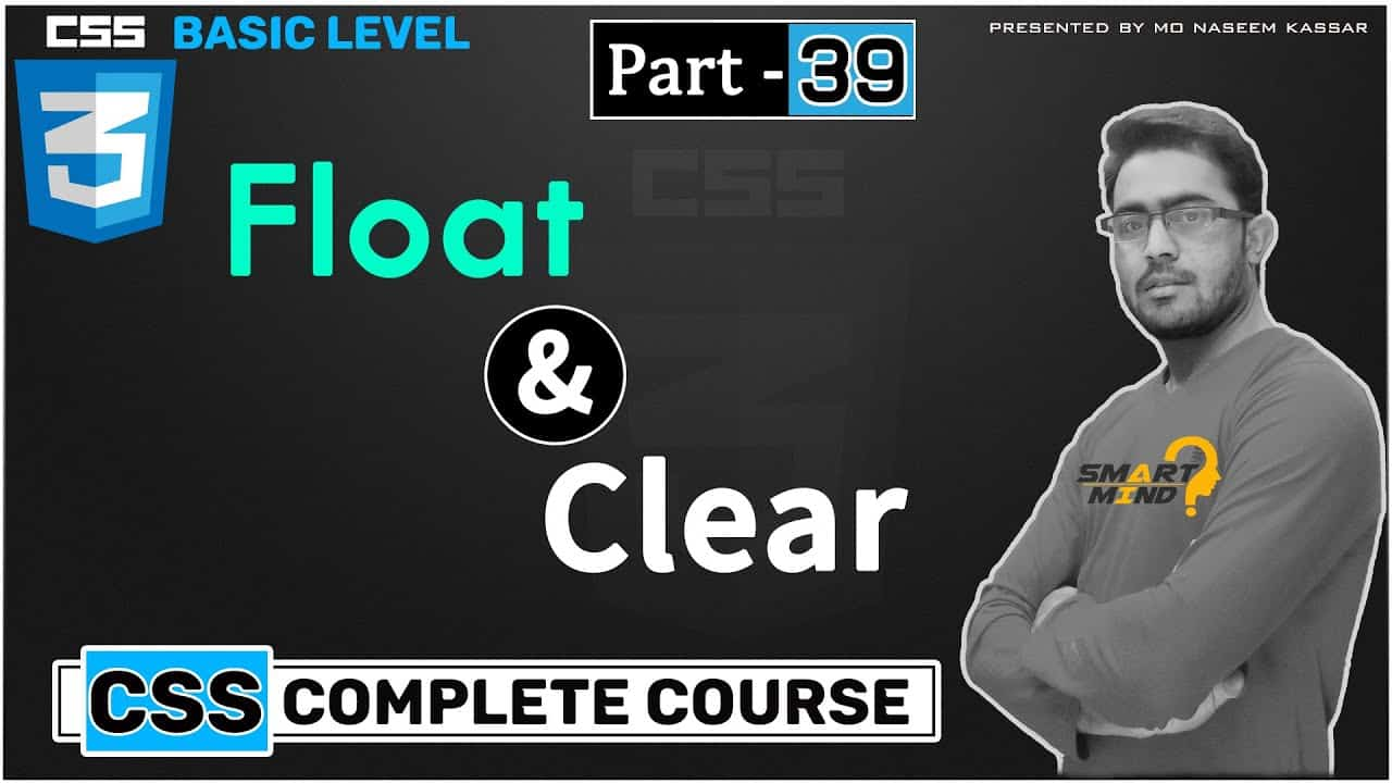 How to use float and clear in css for beginners in hindi by smart mind #39