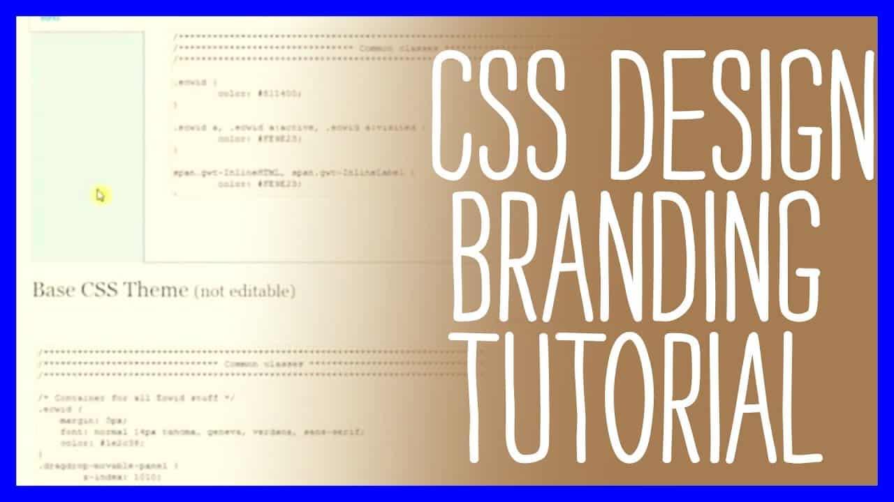 ECWID Shopping Cart CSS Design Branding Tutorial