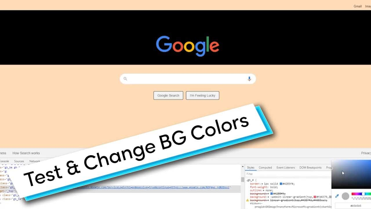 CSS Tip: How To Test & Change Background Colors